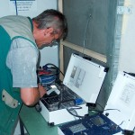 Kontrolle Unterdruckmeßgerät mit Schreiber